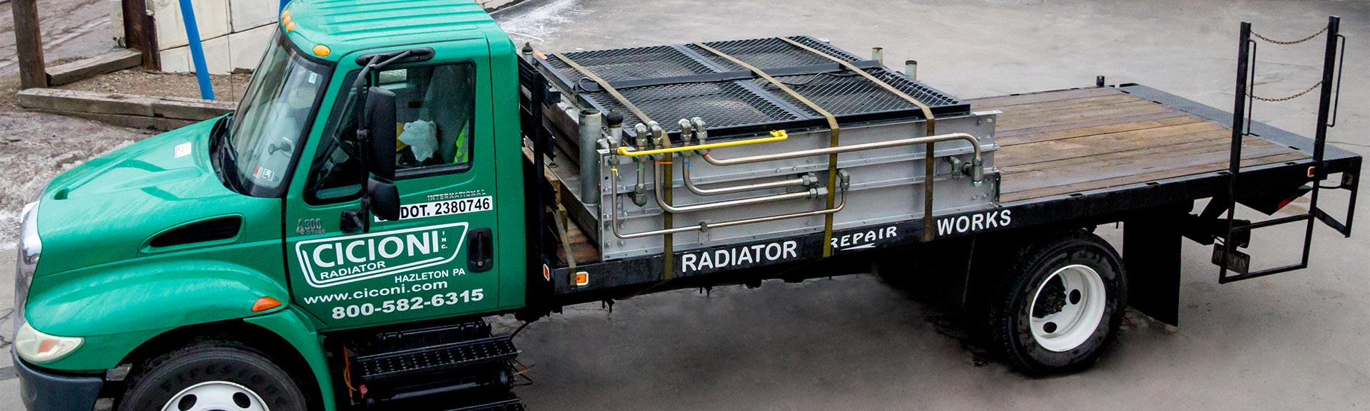 Hydraulic fracturing fracking radiator repair and service on-site