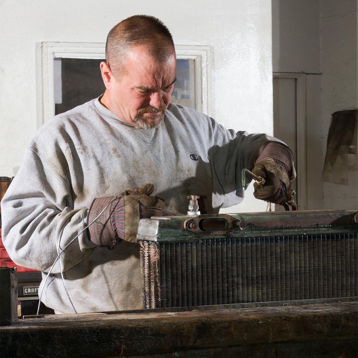 Radiator repair at Cicioni Radiator Repair Works.