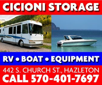 RV, boat, and equipment storage in Hazleton, PA